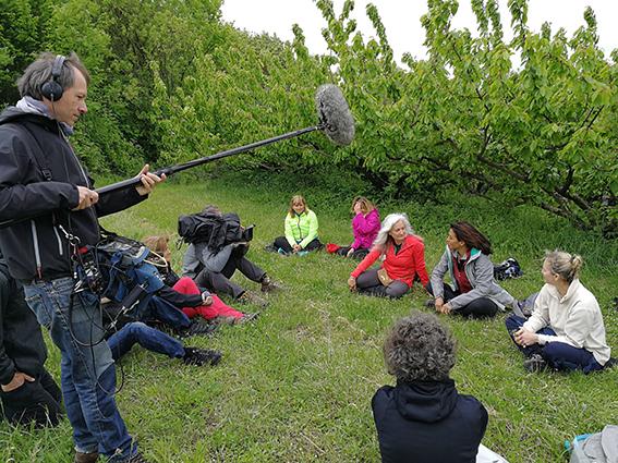 FRANCE 3 tournage à l'atelier jeûne et diététique